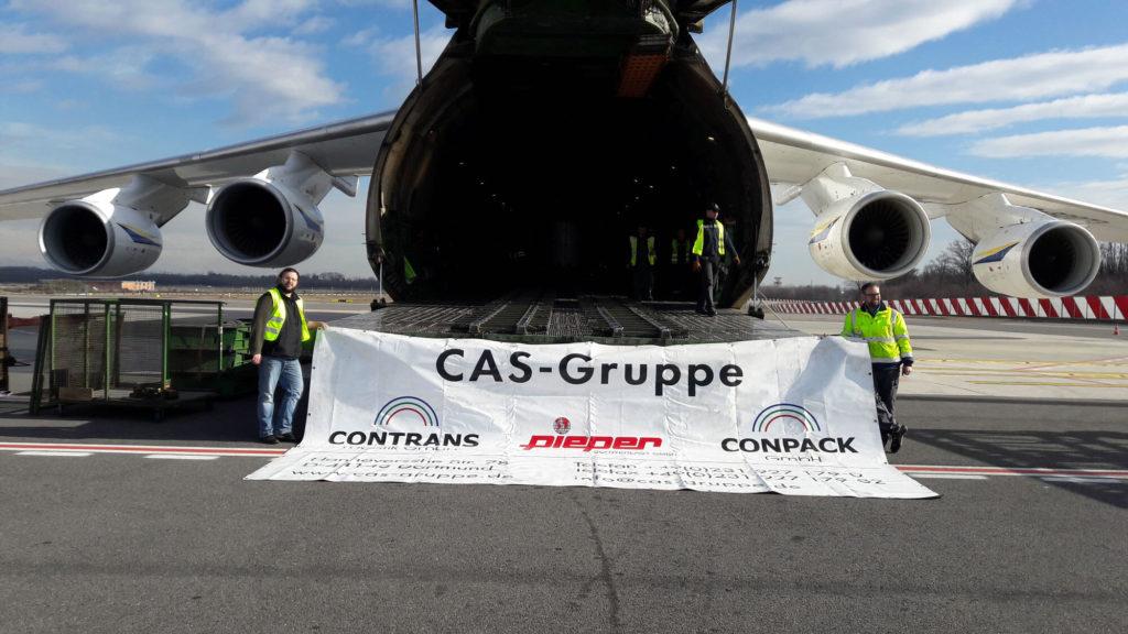 CAS Gruppe am Flughafen Köln.