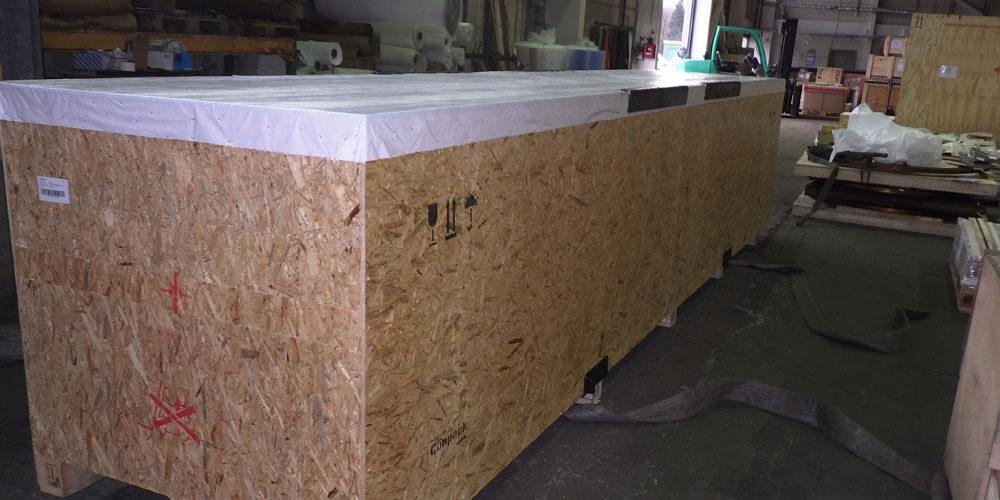 Conpack Frachtbox aus Holz.